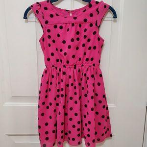 Pink and Black Polka Dot Dress
